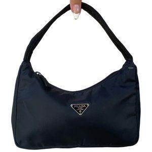Authentic Prada Nylon Tessuto Mini MV515 Hobo Bag